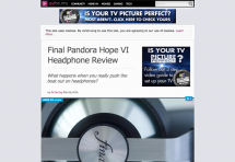 【WEB】「AVForum」(UK) にてPANDORA HOPE VIがオススメ賞を受賞しました!